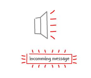 New message alert
