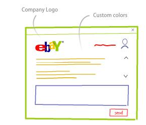 Custom colours and logo