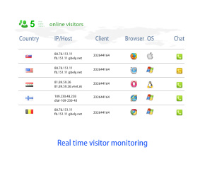 Live visitor monitoring